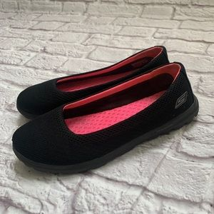 Skechers black slip on shoes size 8